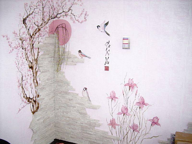 фото роспись стен в квартире